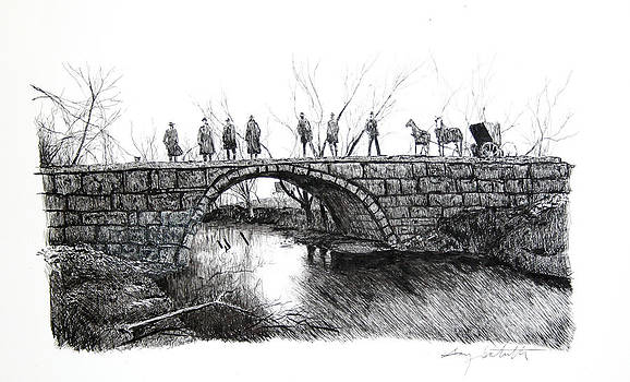 1902 Bridge Postcard by Gary Gackstatter