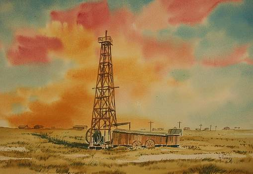 1910 Oil Derrick North Dakota by Kevin Heaney