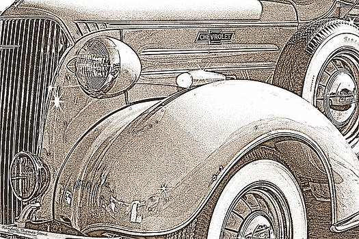 Randall Thomas Stone - 1937 Chevrolet Pickup Truck - Pencil Sketch