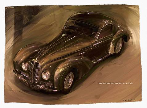 1938 Delahaye Type 145 V12 Coupe by RG McMahon