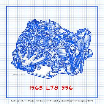 1965 L78 396 Big-Block Corvette Engine Blueprint by K Scott Teeters