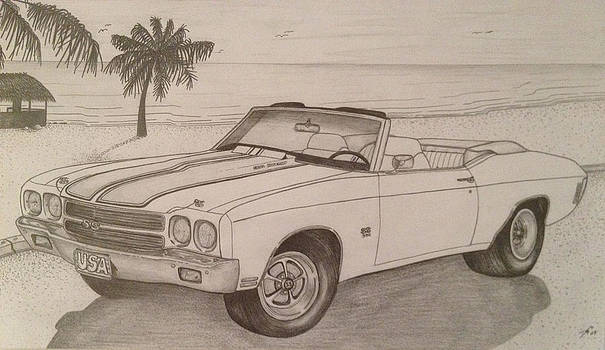 1970 Ss Chevelle Ls6 by Peter Griffen
