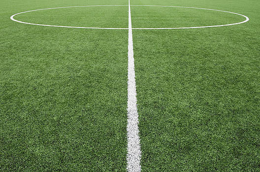 Lines Painted On The Astro Turf Sports by Iain  Sarjeant