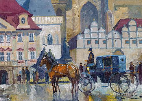 Prague Old Town Square 01 by Yuriy  Shevchuk