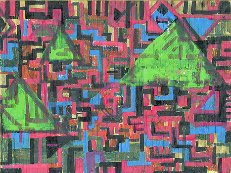 Red Brick Abstract #26 by Wes Thomason