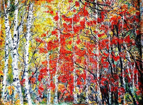 Red forest by Baruch Neria-Kandel