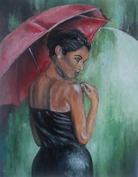 Red Umbrella by Otis  Cobb
