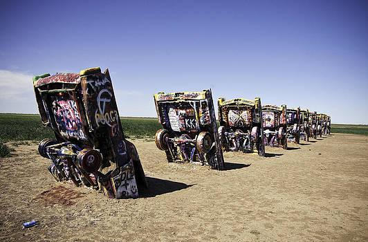 Rt 66 Cadillac Ranch by Paul Plaine
