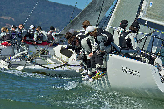 Steven Lapkin - Sailboat racing on San Francisco Bay