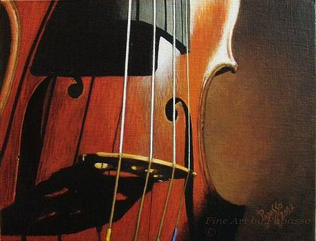 Shadowed Violin by Kathie Papasso
