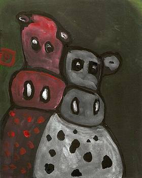 2 Silly cows by Peter  McPartlin