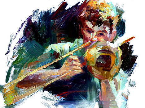 Street Musician by Tony Song