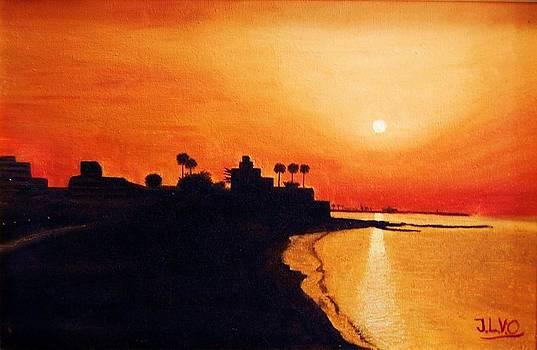 Sunset at the Bil Bil Castle by Jose Luis Villagran Ortiz