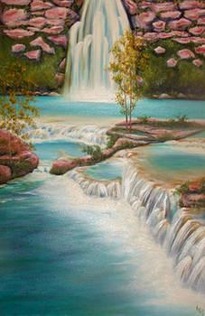 Waterfall by Karen R Scoville