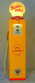 Antique gas pump by David Campione