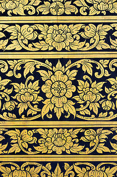 Antique Thai temple mural patterns by Kanoksak Detboon