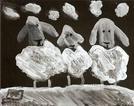 3 Sheep by Peter  McPartlin
