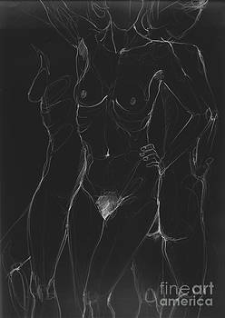 3 Sides Of A Woman In Night by Roswitha Schmuecker