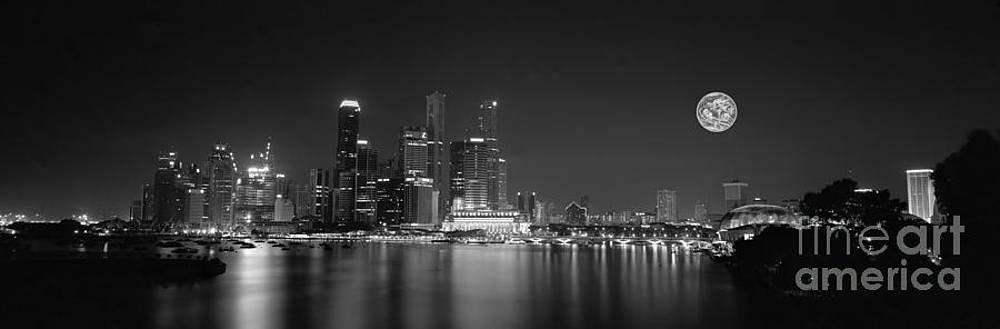 Singapore night lights by Sergey Korotkov