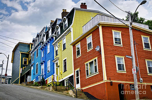 Elena Elisseeva - Colorful houses in St. John