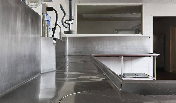 Dishwashing Station In Large Commercial by Douglas Orton