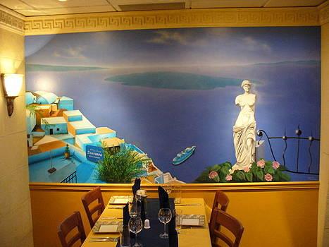 Santorini by Al  Brown