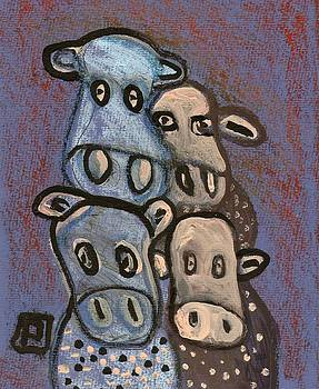 4 Silly cows by Peter  McPartlin