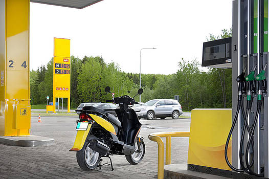 A Petrol Or Fuel Station by Jaak Nilson