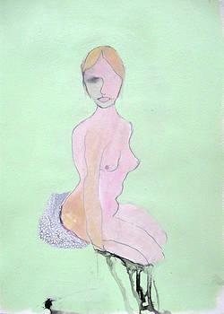 Seated Nude by Brooke Wandall