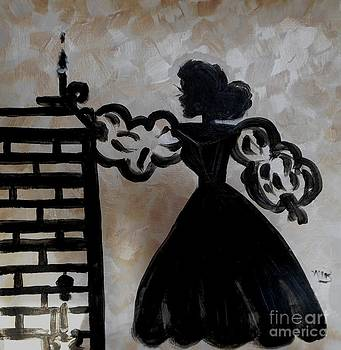 A 1920 Female Silhouette  by Marie Bulger