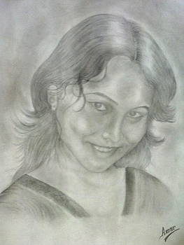 A a very very cute girl  by Amarjyoti Roy