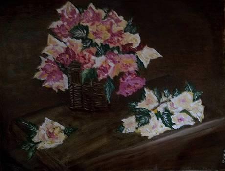 A Basket of Roses by Iris Devadason