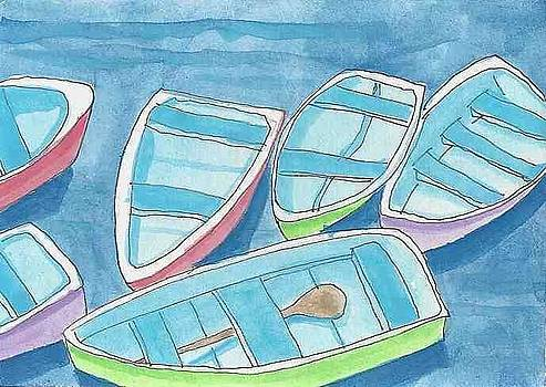 A Bevy of Dinghys by Laurel Porter-Gaylord