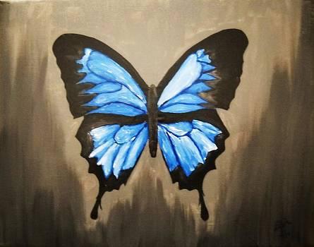 A Blue Butterfly by Edwin Alverio