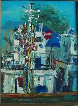 A boat at the docks by Ilze Enina