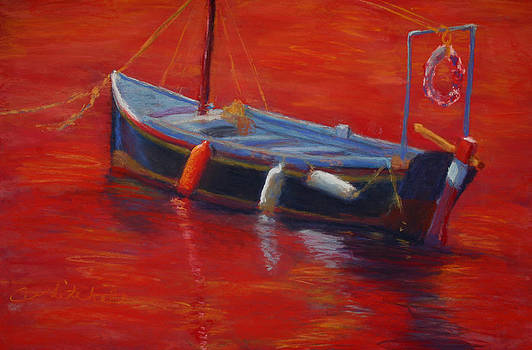 A Boat In Red Water by Cheryl Whitehall