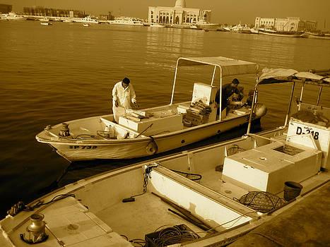 A Boat In The Harbor by Ravindra Kajari
