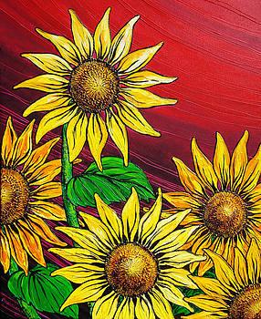 A Burst of Sunflowers by Juan Alcantara