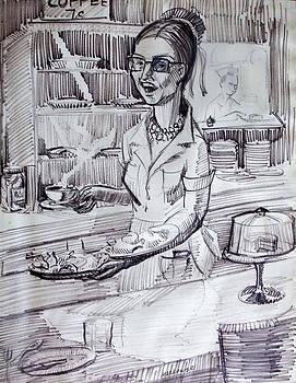 A Cafe Waitress by Aileen Markowski