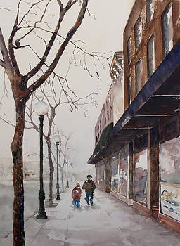 A Cold Day on the Square by Amy Caltry