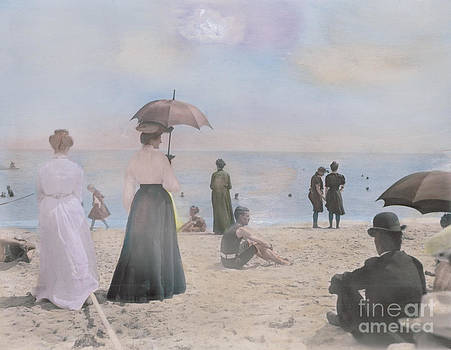 A Day at the Beach 1900 by Susan Bock
