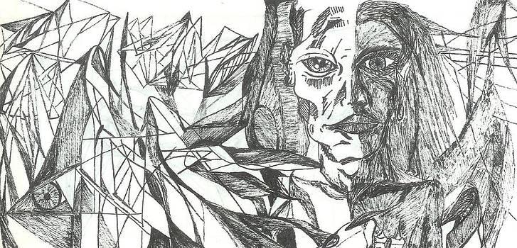 A Face - Sketch by Robert Meszaros and Nick Ellena