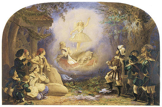 Edward Henry Corbould - A Fairy Scene Rothkappchen
