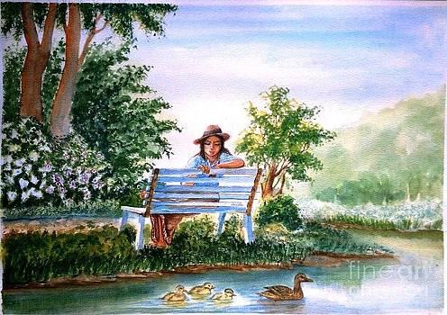 A girl in the park by Shashikanta Parida