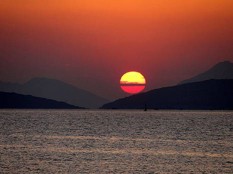 A Greek sunset by Azadeh Bostan