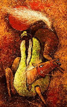 A Horse And A Pear  by Artist Singh