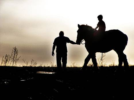 A Man His Son and His Horse by Vanesa Knapp