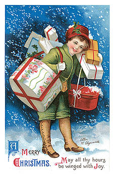 Unknown - A Merry Christmas Vintage Card