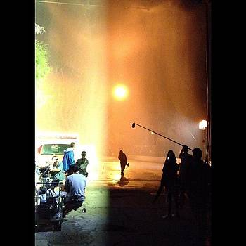 A Rainy Night Of Filming by Ric Spencer