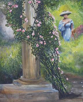 a stroll in the Rose Garden by Lizzy Forrester